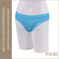 Fashionable blue cotton hipster panty underwear women free samples