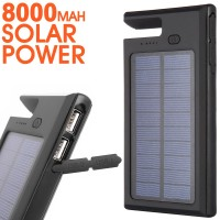 8000mAh 16000mAh Active Waterproof Solar Inverter Portable Power Bank Charger