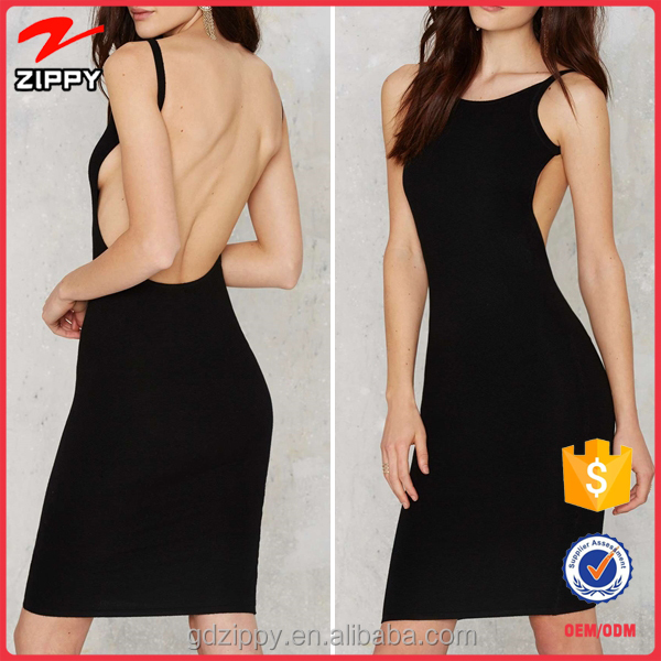 Wholesale New Style Black Open Back Design Bandage Women Dress for Party