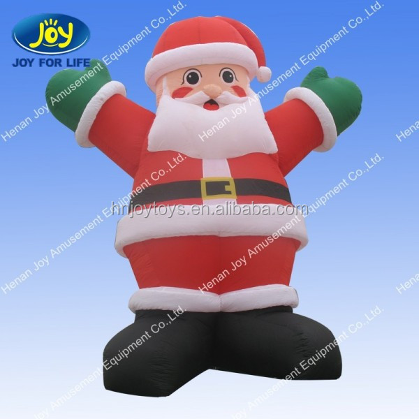 2016New design Santa decoration 25ft christmas inflatable santa with camper