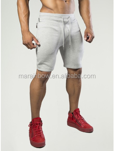 Tapered Mens Gym Shorts Soft 100% Cotton Fleece Sweat Shorts Light ...