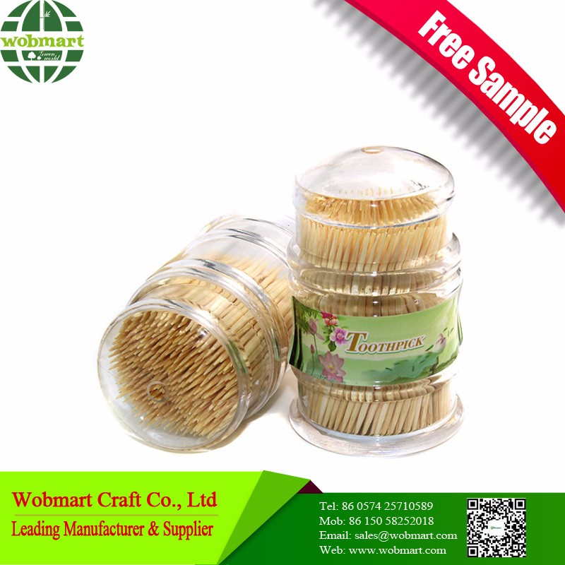 Free Sample High Quality Cheap Bamboo Dental Tooth Picks