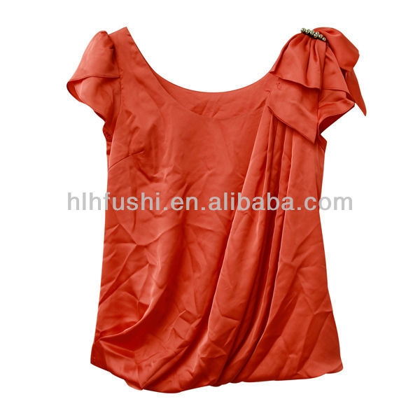 fashion t-shirts cotton polyester blend for woman