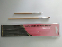 Pack in PVC blister card Flat type nail Pony hair brush