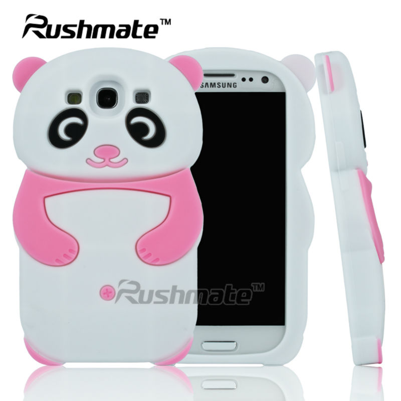Pink Panda Design Cell Phone Accessories For Samsung Galaxy S3 I9300 Silicone Case Cover