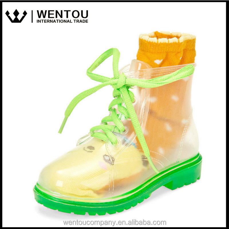 Transparent Rain Rubber Boots For Children