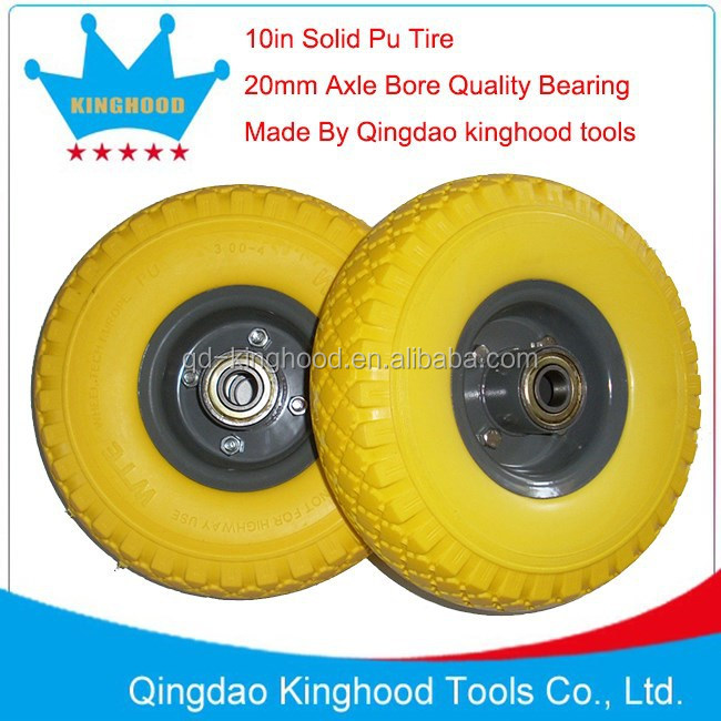 Flat Free Tire For hand trolley 3.00-4 260x85 solid Pu wheel