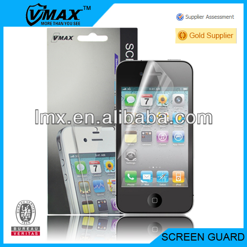 Super protector lcd screen guard for iphone 4 factory price