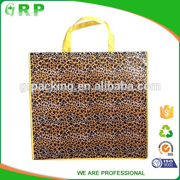 ISO/BSCI custom promotion reusable pp woven plastic coated tote bags