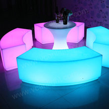 RGB colors With remote control and battery led furniture rv sofa for event or party