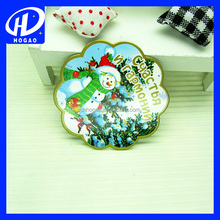 Manufacture Snowman Coated Custom Paper Fridge Magnet