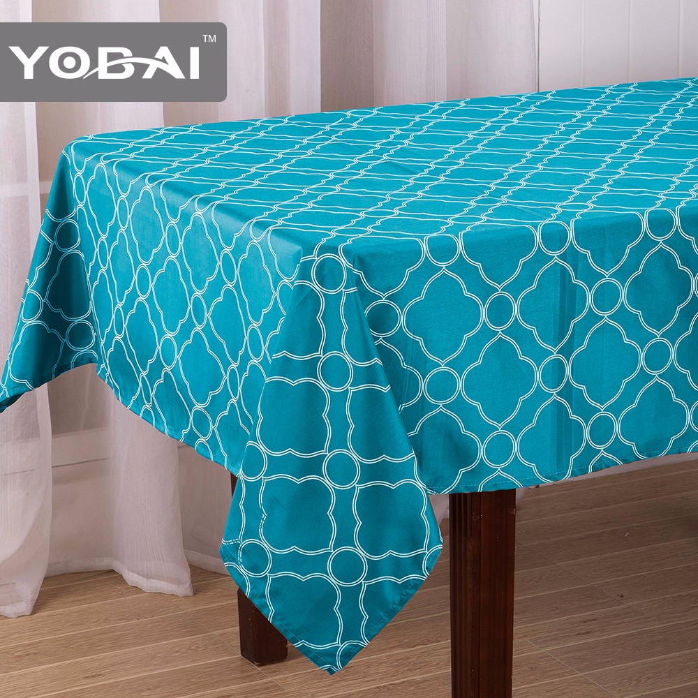 Custom Size Knitted Fabric Printed Pattern Table Cloth