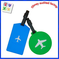 School bag tag luggage tag, custom standard size pvc luggage tag with paper card insert