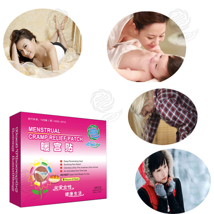 Henan Kangdi factory offer high quality Relive pains dysmenorrhea heat patch