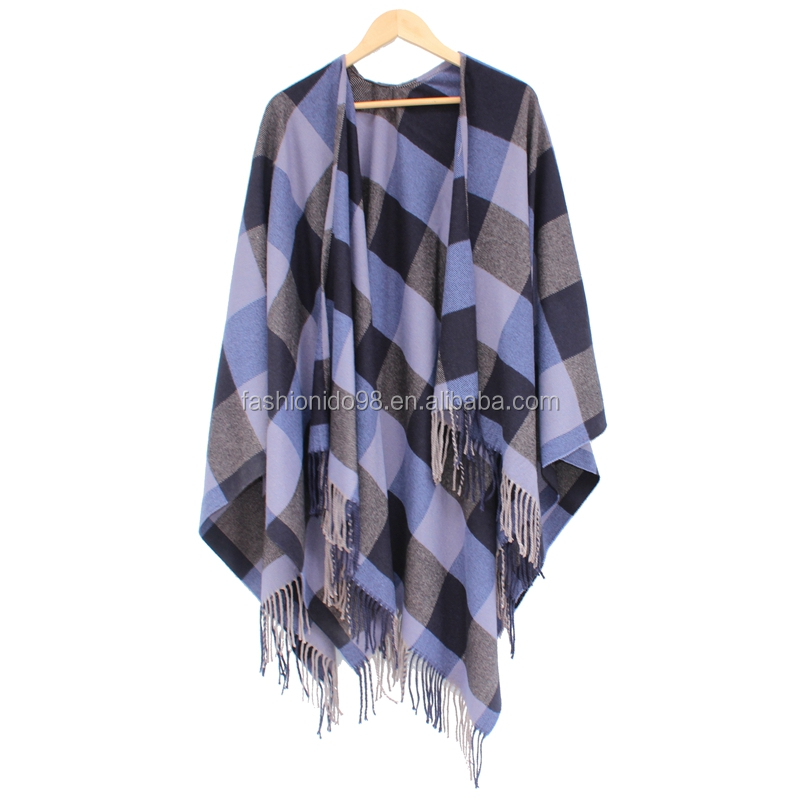 2017 fashionable women cashmere shawl poncho