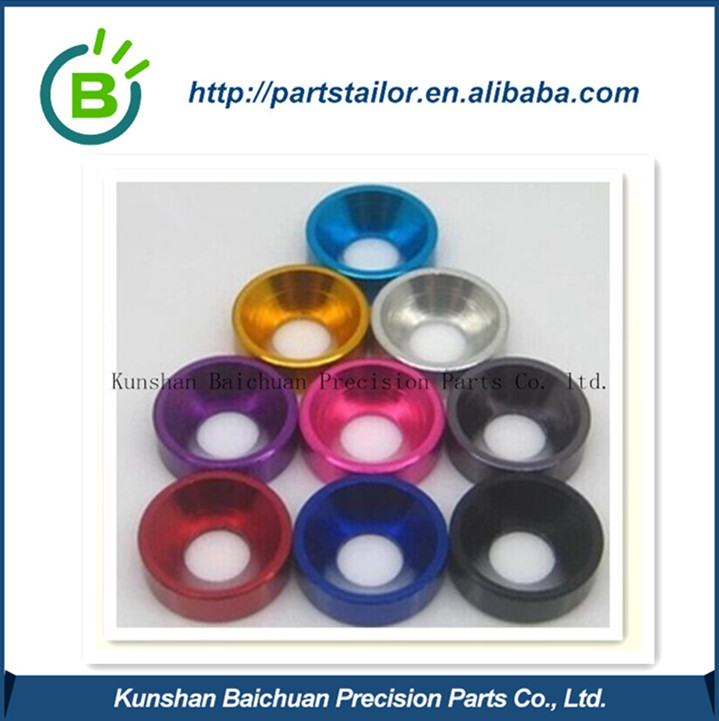 Colorful anodizing custom CNC aluminum Machining Parts