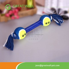 cotton rope <strong>pet</strong> toys with tpr hand shank tennis balls for <strong>training</strong> <strong>pets</strong>