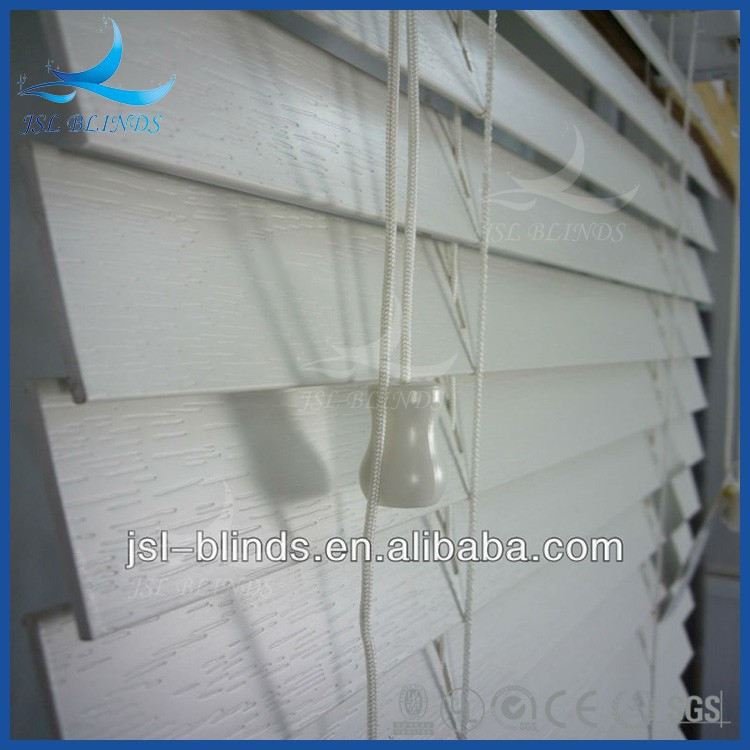 Easy operation 50mm elegant faux wood blinds