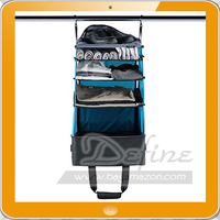 Hanging Portable Clothing Storage Shelves Travel Luggage Organizer