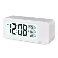 Re-chargeable Desk LCD Digital Alarm Clock