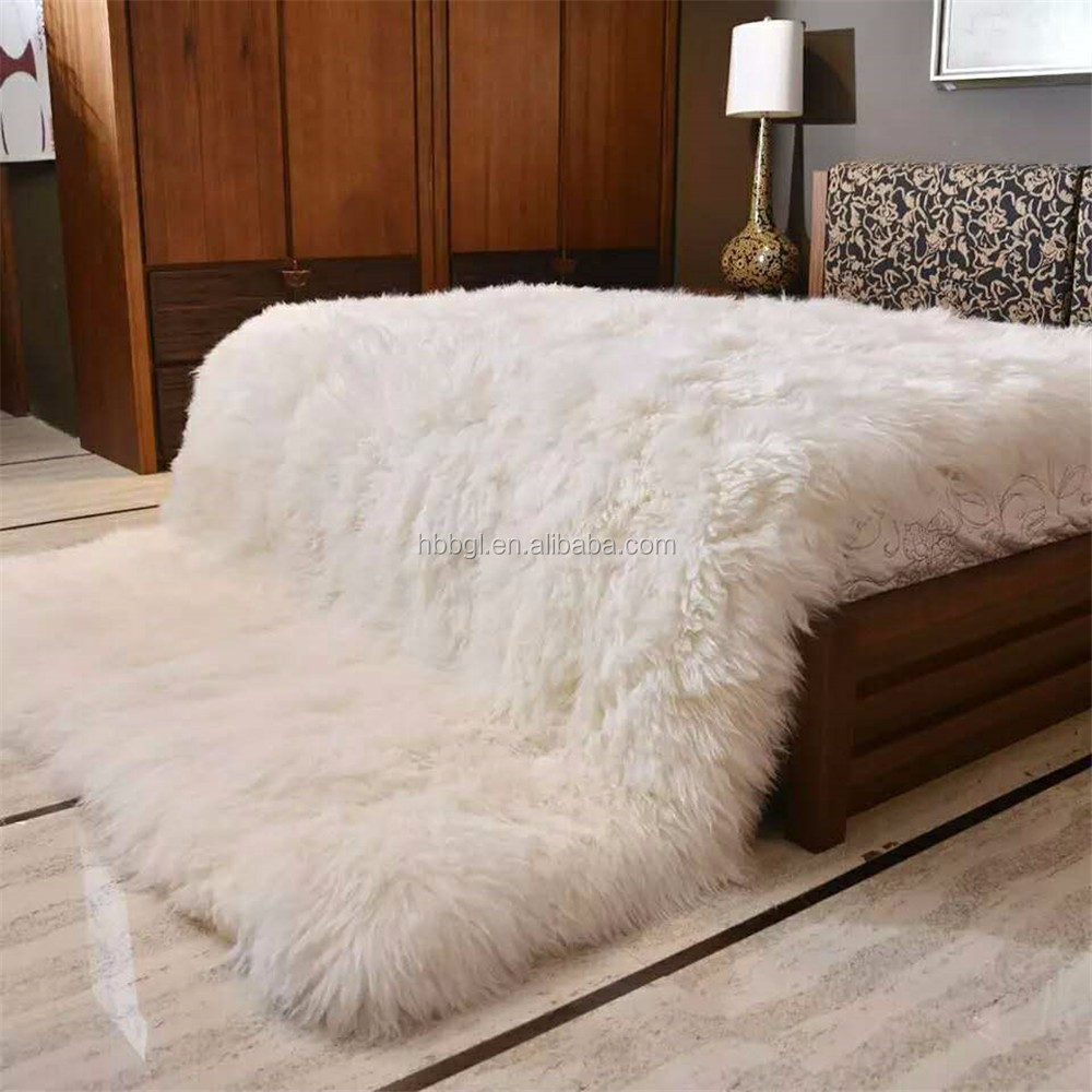 Factory wholesale Natural sheepskin White faux fur rug carpets and rugs in living room carpet from China suppliers
