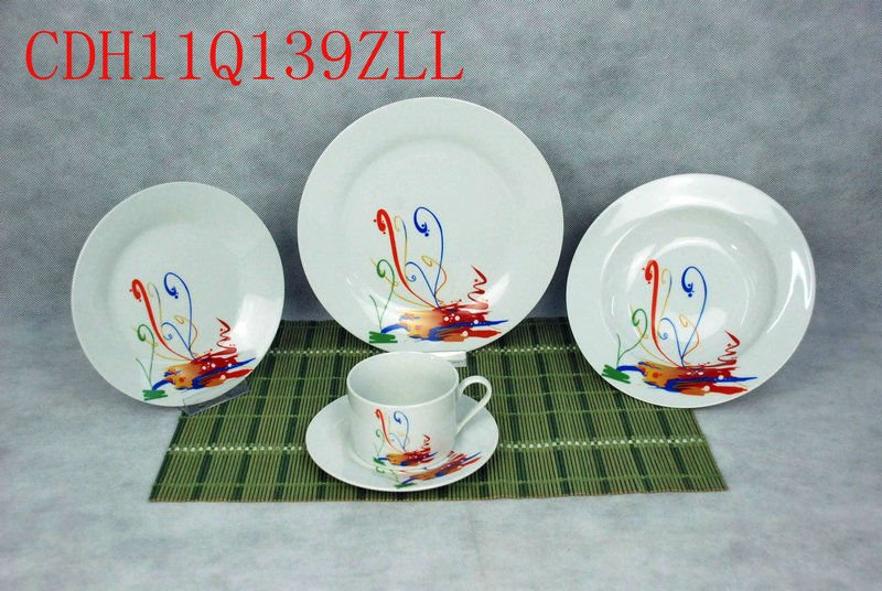 new modern ceramic 20pcs dinner sets fine ceramic tableware porcelian plates bowl knives