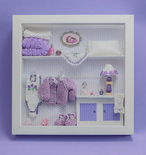 Beautiful baby shadow box frame art 3d box frames