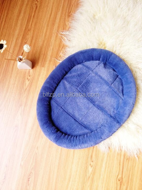 Oval-shaped Pet Home Cat Dog Bed Soft Plush Fur Fabric