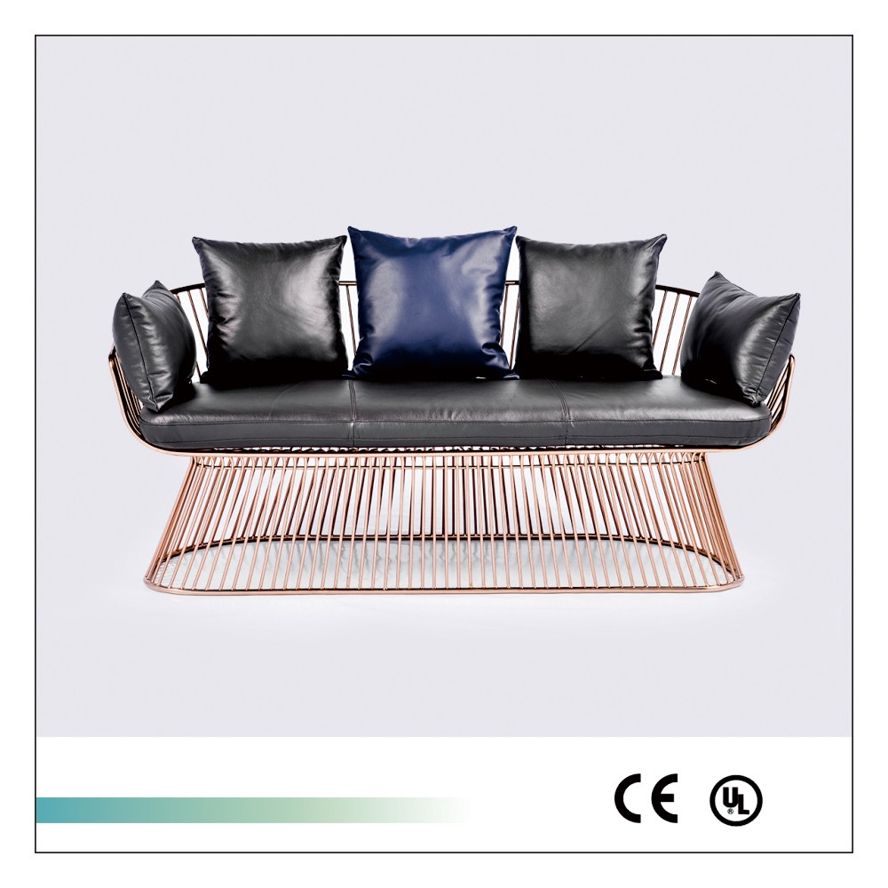 Genuine Leather Sectional Modern Sofa Set For Living Room