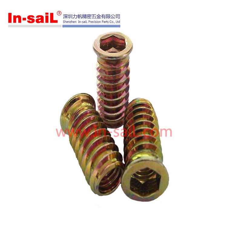 M6 zinc alliage insert fileté pour meubles en bois Noix ID de produit 583007312 french alibaba com # Insert Pour Bois Fileté