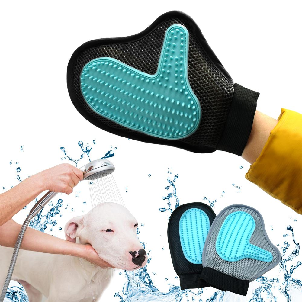 Pet Grooming Glove Brush Deshedding Bath Tool Pet Massage Hair Remover For Long Short Hair Cat Dog Soft Pet Groomer Mitt Brush