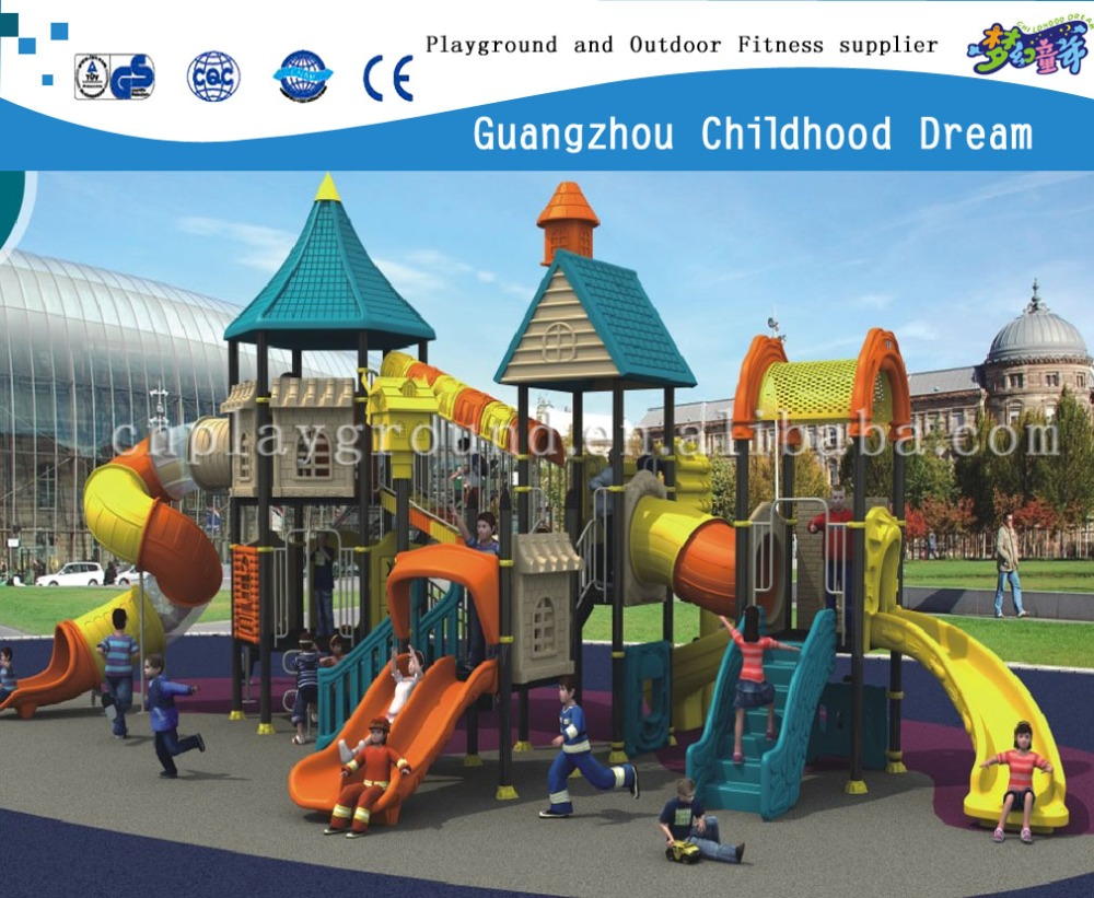 (CHD-110) Certificated guangzhou manufacture outdoor toy, amusement park, plastic playground slide for sale