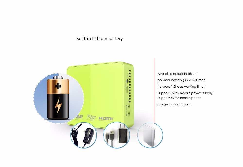 2016 newest 854 480 dlp led pico projector unic uc50 with for Smallest pico projector 2016