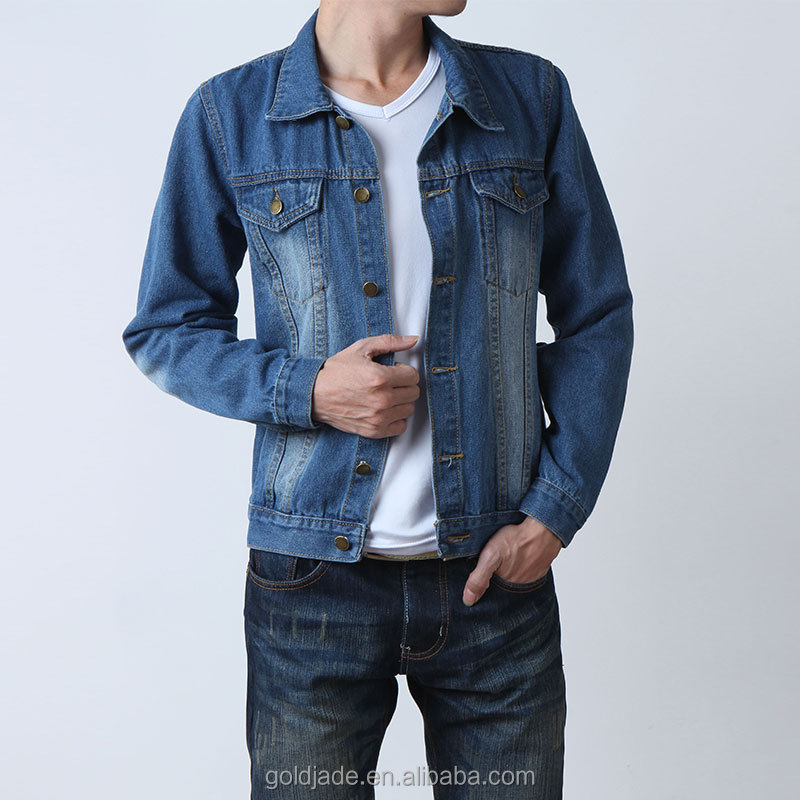 Stylish denim jacket fashion mens dip dyed denim jeans jacket winter