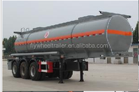 Liquid Chemical sulfuric acid tank truck semi trailer for sale from china