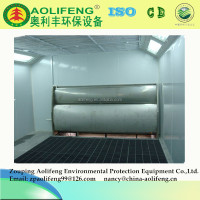 industrial paint spray booth with water curtain