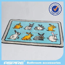 branded rubber bath mats with flocked