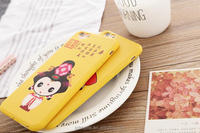 Eco-friendly silicone phone case/cute cartoon phone case for Iphone 5 5s