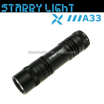 StarryLight A33 battery holder led torch with super long runtime