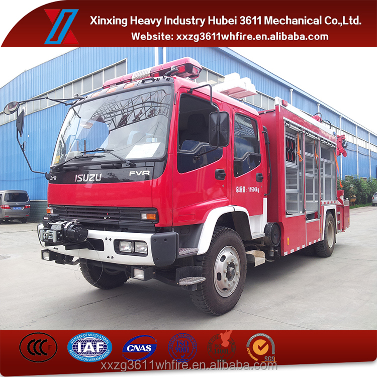 New Products 4*2 Euro3 8t Cheap Lighting Rescue Truck With Crane