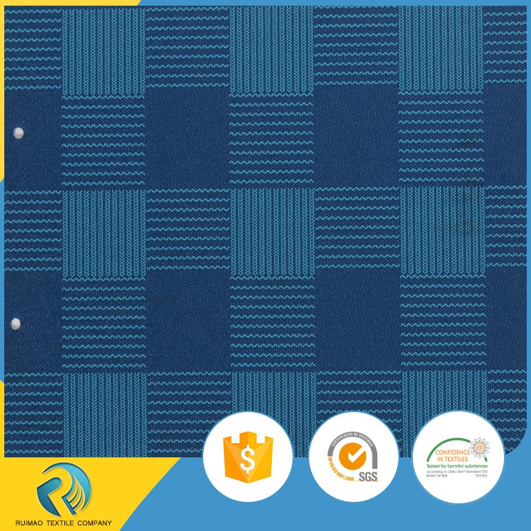 Hot selling products PU coated blue check printed 900D polyester waterproof oxford cloth