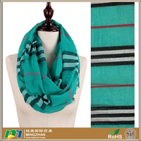 Fashoin green striped wholesale jersey cotton scarf for women