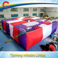 2016 new design inflatable air jumper for indoor trampoline/inflatable big air bag for snowboard