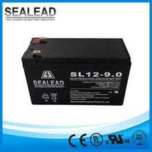 high quality 1 years warranty 12v 9ah lead acid MF type battery for UPS emergency light