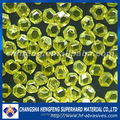 china suplier good transparent yellow perfect crystalline shape industrial synthetic diamond