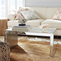 golden clear Europe-style antique mirror console table/ coffee table