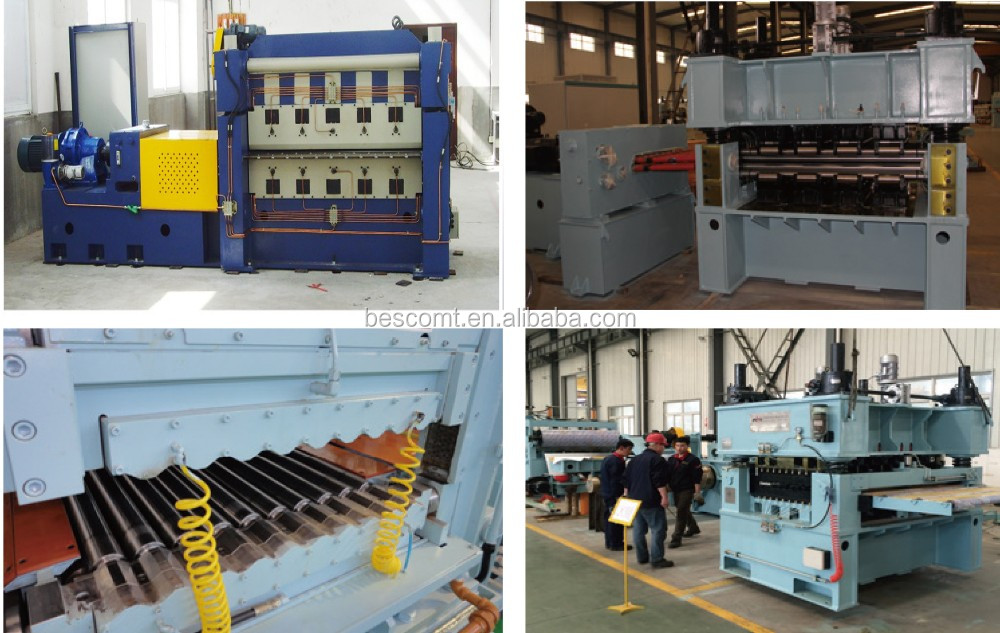Automatic steel sheet leveling machine, leveling and cutting machine