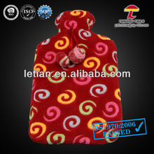hot water bag and coral fleece cover with Circle design