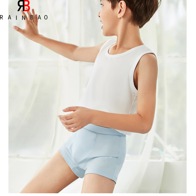 China supplier young boy underwear model cute boy cotton kids underwear