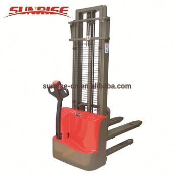 Walking electric heap high vehicle single oil cylinder mast 1500 kg electric pallet stacker